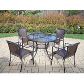 Elite Resin Wicker 5 Piece Dining Set