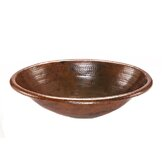 Oval Self Rimming Hammered Copper Sink in Oil Rubbed Bronze