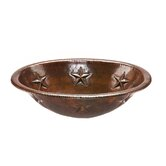 Oval Star Self Rimming Hammered Copper Sink in Oil Rubbed Bronze