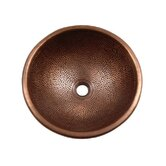 Pin Hammered Topmount Round Copper Vessel Sink
