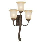 McKensi Three Light Wall Sconce in Bronze Patina