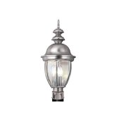 "Capital 9"" Outdoor Post Lantern in Brushed Nickel"