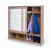Coat Locker with Sliding Doors