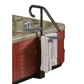 Deluxe Spa Caddy with Handrail, Towel Rack and Beverage Tray