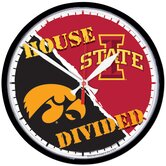NCAA &quot;House Divided&quot;  12.75&quot; Round Clock
