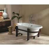 Era Freestanding Double-Ended Tub with Wooden Frame