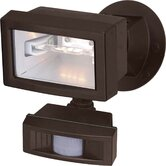 "5"" One Light Flood Light with Motion Sensor in Black"