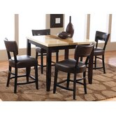 Trinity 5 Piece Counter Height Dining Set