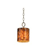 Naturals 1 Light Drum Foyer Pendant