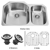 70/30 Double Bowl Stainless Steel Undermount Kitchen Sink