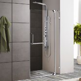 Frameless Shower Door with 3/8&quot; Clear Glass