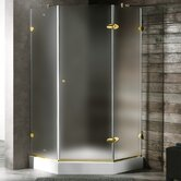 Neo-Angle Door Frameless Shower Enclosure with Base &amp; Knob Handles