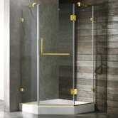 Neo-Angle Door Frameless Shower Enclosure with Base