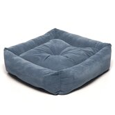 Microfiber Square Pet Bed in Blue