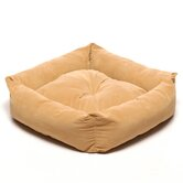 Microfiber Square Pet Bed in Caramel