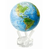 4.5&quot; Blue Oceans with Relief Map Globe