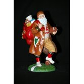 """Touchdown Santa"" Football Santa Figurine"