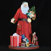 """A Gift for You Santa"" Santa with Toys and Presents Figurine"