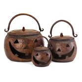 3 Piece Lidded Pumpkin Set