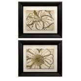 Contour Line Art Flower (Set of 2)