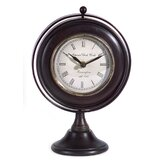 Round Desk Clock in Black
