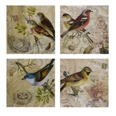 Kincaid Bird Canvas Wall Art (Set of Four)
