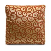 Harbin Square Box Pillow in Golden and Deep Auburn