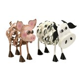 Osceola Metal Pig and Cow Set