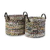 Alaina Recycled Magazine Basket (Set of 2)