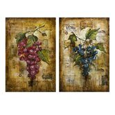 Vineyard Grape Oil Painting (Set of 2)