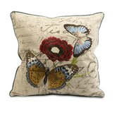 Julia Embroidered Butterfly Pillow
