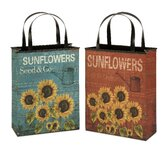 Sunflower Tin Bag Vase (Set of 2)