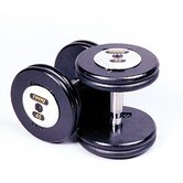 130 lbs Pro-Style Cast Dumbbells in Black