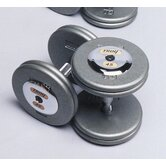 125 lbs Pro-Style Cast Dumbbells in Gray