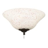 Rust and Cream Speckled Ceiling Fan Glass Bowl Shade