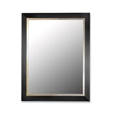 Contempo Mirror in Satin Black/Gold