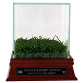 Texas Stadium Game Used Turf with Etched Glass Display Case and Nameplate
