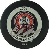 Chris Drury 2001 Stanley Cup Signed Puck