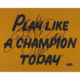 Ricky Watters Play Like A Champion Today Autographed Photograph with 'Go Irish' Inscription