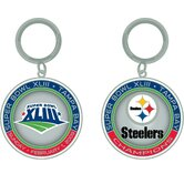 NFL SB XLIII Champs ultimate keychain - Pittsburgh Steelers
