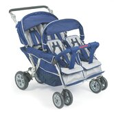 SureStop Folding Commercial Bye-Bye 4-Passenger Tandem Stroller