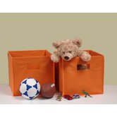 Folding Storage Bins in Orange (Set of 2)