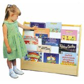 Two Sided Pic A Book Stand with Dry Erase Board and Storage Cubbie