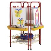 4-Station Art Easel Center with Drying Rack