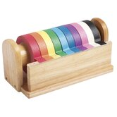 Hardwood Kraft Tape Dispenser With 10 Assorted Rolls