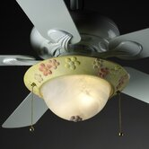 Kid's Room Two Light Bowl Ceiling Fan Light Kit