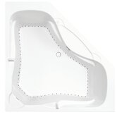 "Symphony 19 60"" Corner Air Bath Tub in White"