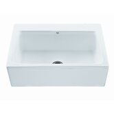 McCoy Single Bowl Kitchen Sink with Embossed Front Panel