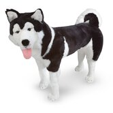 Large Husky Plush Stuffed Animal