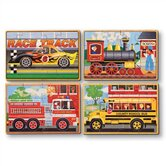 Vehicles in a Box Wooden Jigsaw Puzzle